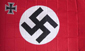 RED SWASTIKA WITH IRON CROSS FLAG, F-46