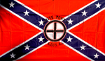 CONFEDERATE FLAG WITH CELTIC CROSS, F-07