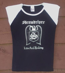 GIRLIE SHIRT - SKREWDRIVER, LIVE & KICKING SHIRT, TSH-234