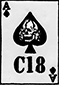 C-18 ACE OF SPADES PATCH, P-C18-2
