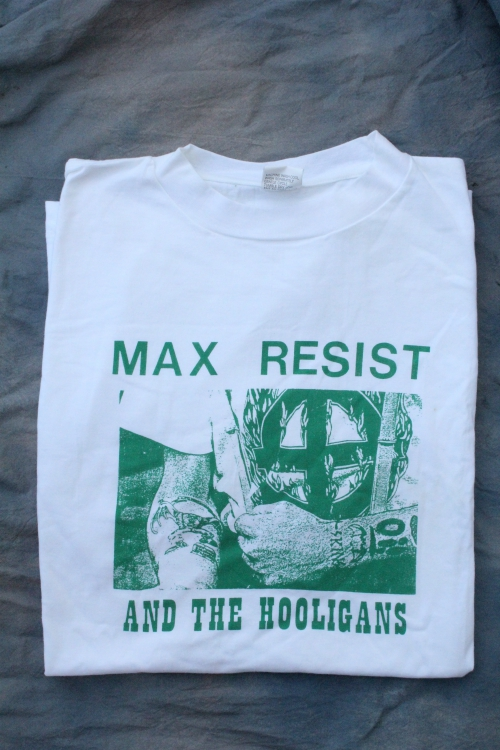 *LIMITED EDITION* MAX RESIST GREEN PRINT XL WHITE TEE TSH 187