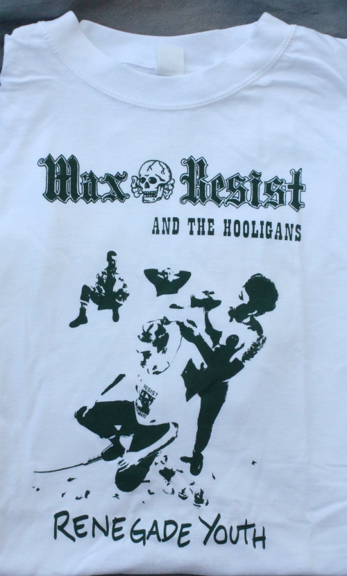 *LIMITED EDITION* MAX RESIST AND THE HOOLIGANS RENEGADE YOUTH XL WHITE TEE