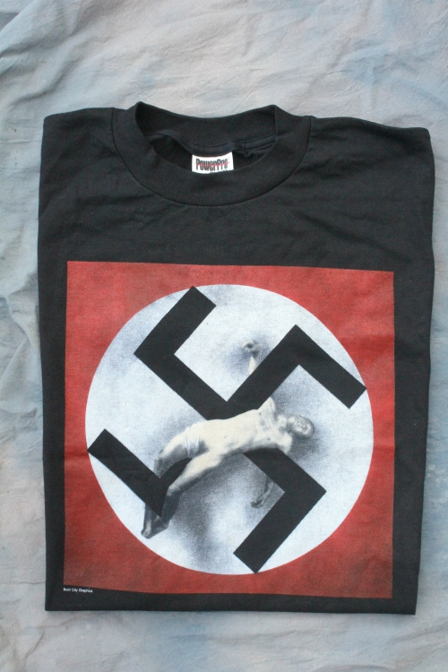 *LIMITED EDITION* CRUCIFIED ON THE CROSS (SWASTIKA) XL BLACK TEE