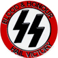 BLOOD AND HONOR HAIL VICTORY PIN, PIN NO. 101